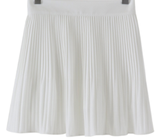 Fine pleated banding culottes skirt