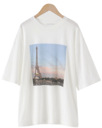 French Cotton Short-sleeved T-shirt
