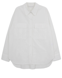 Clean White Back Pin Tuck Pocket Shirt