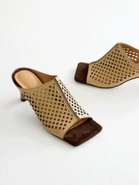 Failed punching mules slippers 6cm