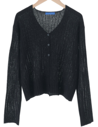Boucle Ribbed Knitwear Cardigan