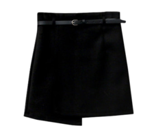 Wool Belt Trap Skirt