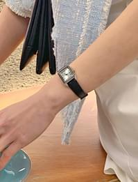 Square Cowhide Watch