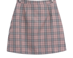 Maple h check skirt
