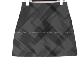 Abstract Check Pattern Mini Skirt