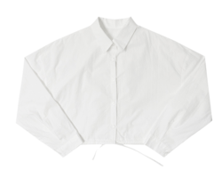 Front string cropped shirt