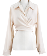 Look good wrap cropped blouse