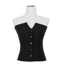 Cropped classic vest