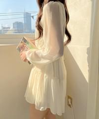 Melody Chiffon Cancan Dress 4color