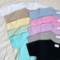 Color Chip Crop Short Sleeve Tee