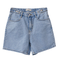 Plus Denim Shorts
