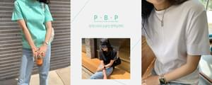 PBP# Single order/same-day delivery Split stitch single-fit compact silk tee