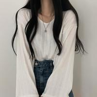Ribbed Wide Long Sleeve Tee