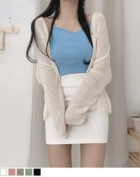Our loose Loose-fit booklet cardigan