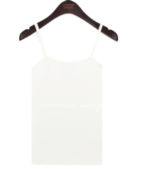 Square Neck Slim Sleeveless Top