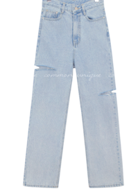 Slash Accent Straight Jeans