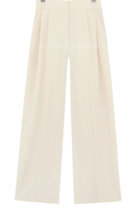 Pleat Accent High Waist Slacks