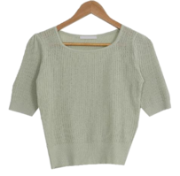 Cassis Square Short Sleeve Knitwear