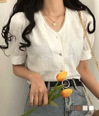 Iromi lace short-sleeved blouse