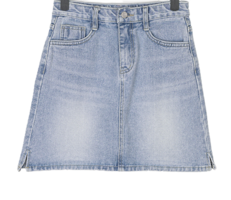 Men's split denim mini skirt