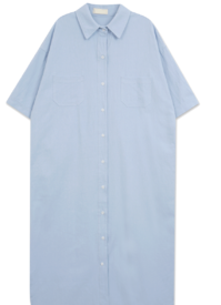 《Planned Product》 Faded Cotton Pocket Shirt Dress