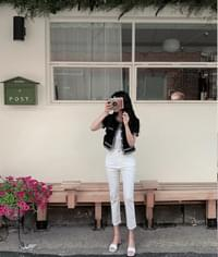 Views cotton date pants ivory L only