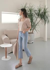 Eve linen cropped blouse