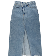 Obe slit denim long skirt