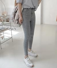 Stone Gray Skinny Denim Pants - Middle S, M Long S, M Same Day Shipping