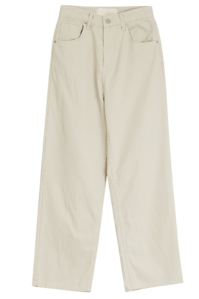 Colorful pigmented cotton trousers