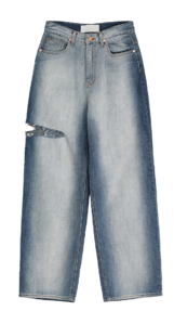 Cutting brush wide jeans
