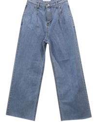 Waist Pin Light Blue Blue Wide Jeans