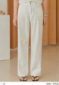 Wide Leg Buttoned Pants - 2 Types