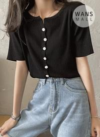 kn4504 Ravy Short Sleeve Knitwear Top