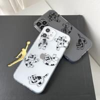 Sword Cats Pattern Full Cover iPhone Case
