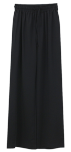 Wide banding trousers
