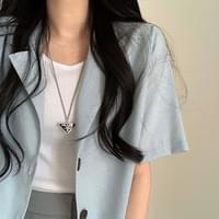 Summer short sleeve linen jacket