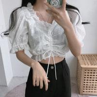190 mood punch cropped blouse