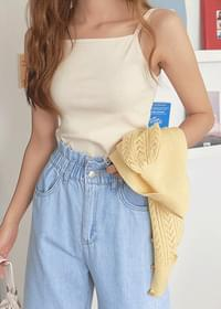 Basic square sleeveless top