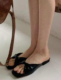 Lina Soft Leather Mule Slippers