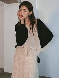 Linenless cropped cardigan