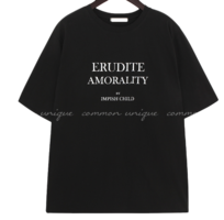 Contrast Lettering Boxy T-Shirt