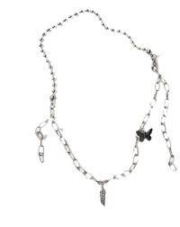 Slip chain layered necklace