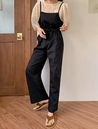 Memory string overalls pants