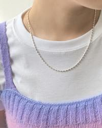 Ruby Simple Silver Chain Necklace