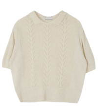 Punching collar knit
