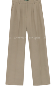 Solid Color Wide Leg Slacks
