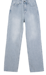 Mar wide straight denim trousers