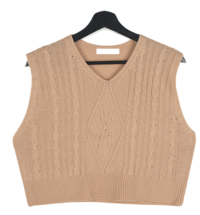 Gellar Twisted Cropped Knitwear Vest