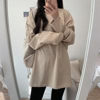 Overfit layered long-sleeved T-shirt